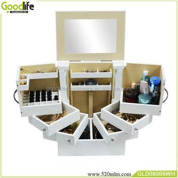 Genial Usa Style Furniture Makeup Organizer 6 Drawers Wooden White   Buy Makeup  Organizer,Vanity Makeup Organizer,Large Makeup Organizer Product On ...