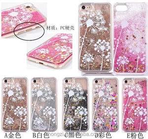 White dandelion couples lovers quicksand PC hard shells phone case cover for iphone 5 6 7 6 plus 7plus