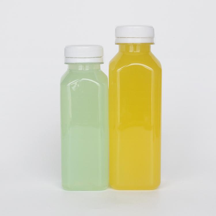 16 oz स्पष्ट वर्ग पेय की बोतलें भंडारण के लिए घर का बना रस, पानी, चाय