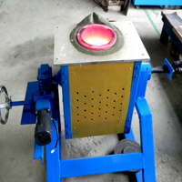 Rapidly Melting Oven Small Metal Melt Furnace 50kg Induction Melting Furnace
