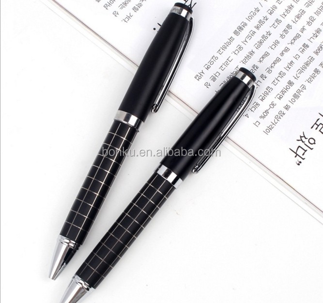 flat rubber sprayed soft touch weight metal gift ball pen for hotel use