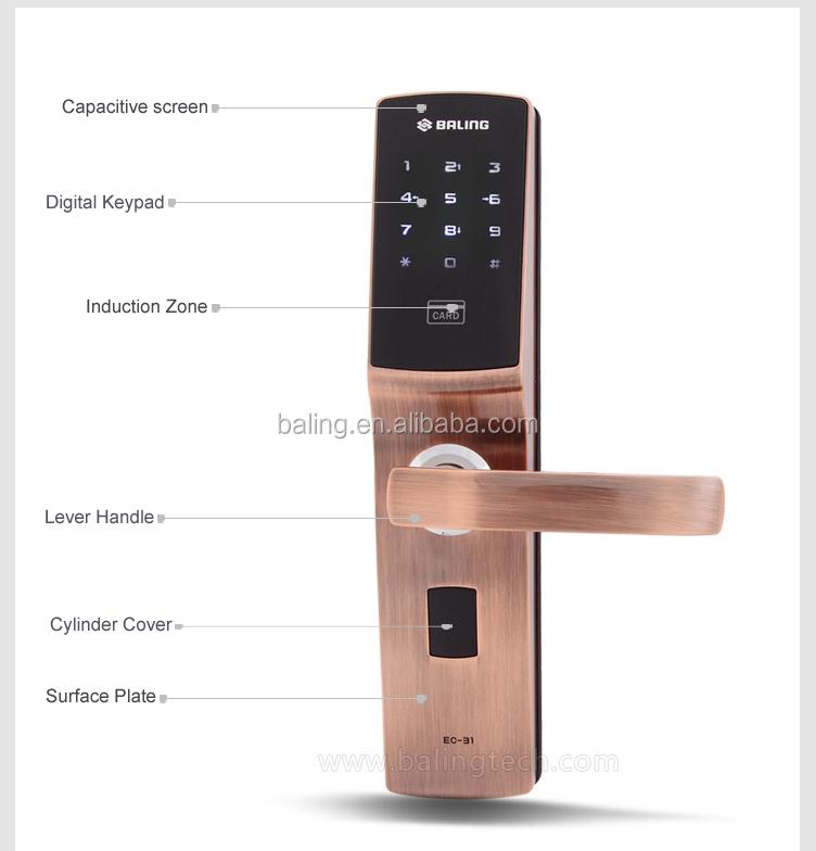 baling high security keyless entry door lock electronic keypad code door lock combination best door lock