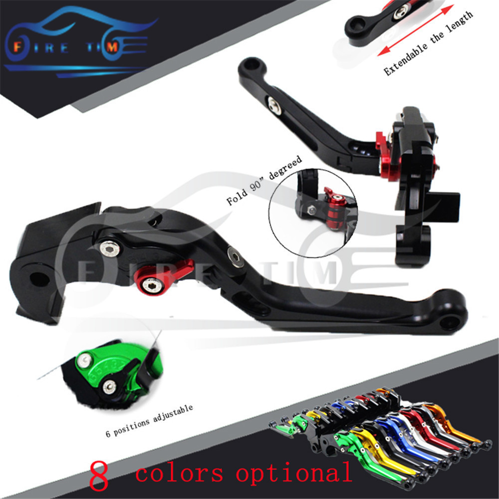 CNC motorcycle brake clutch lever black color foldable extendable brake clutch levers FOR MOTO MORINI Corsaro1200 2005 2006 2007