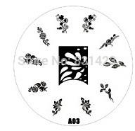 2015 new A Series A03 Nail Art Polish DIY Stamping Plates Image Templates Nail Stamp Stencil