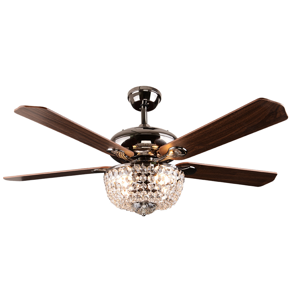 Crystal Ceiling Fan Light Rustic Ceiling Fan Light SF60