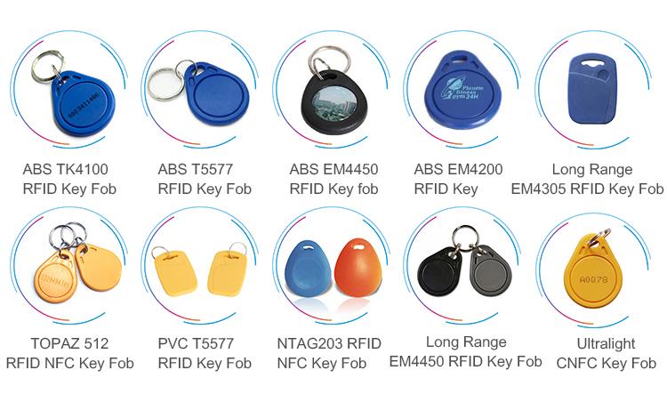 Uhf colorful contactless smart rfid writable custom silicone nfc rfid key  fob