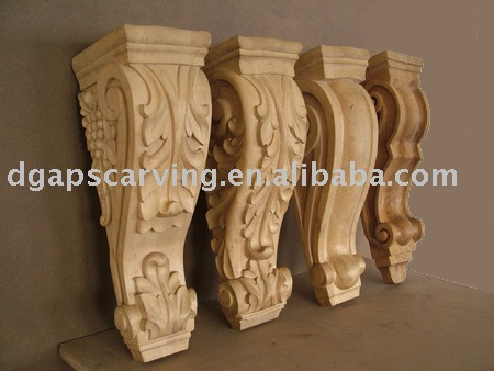 Wood Corbels,Decorative Wooden Corbels,Hand Carved Corbels,Architectural Corbels
