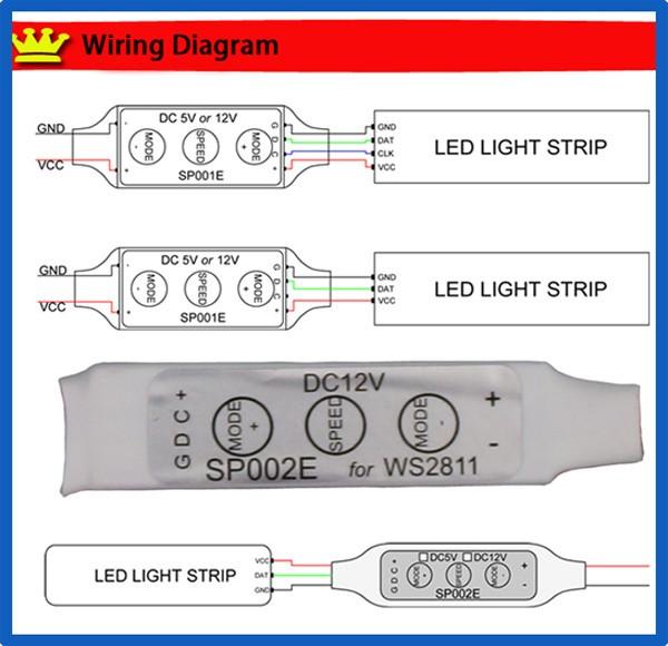 3keys Rgb Smart Mini Led Pixel Controller Dc5v/12v For Ws2811 ... on parallel christmas light wiring diagram, color flash led circuit diagram, bi color led circuit diagram, light switch home wiring diagram, auto light switch wiring diagram, light fixture wiring diagram,