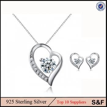 925 sterling silver price per gram heart silver set 925