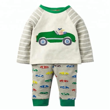 kids cute car printing winter 2 pcs set