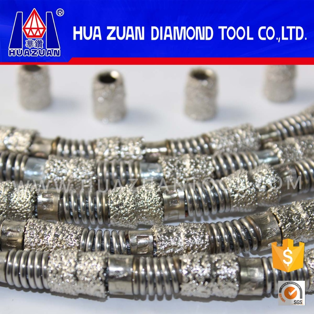 Fast cutting vaccum brazed diamond spring steel wire for marble/limestone