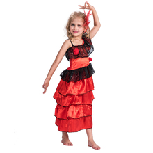 children carnival party fancy dress Spanish dancer Flamenco costume for kids girls