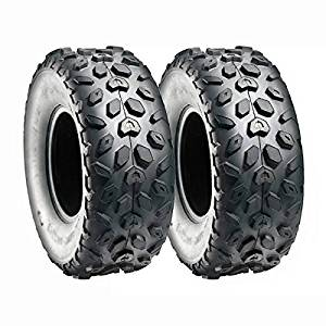"SET OF TWO: ATV Tubeless Tires 145x70-6 (14.5x7x6) P120 - Front or Rear - for TaoTao, Baja, Roketa, Small ATV w 6"" Rims"