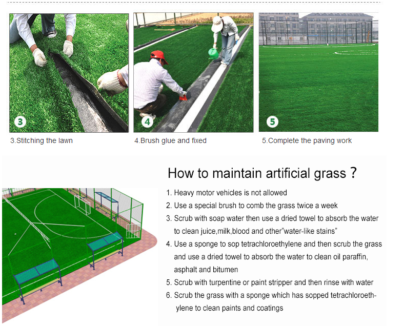 Comfortable and anti-fatigue artificial grass China for lanscaping synthetic grass