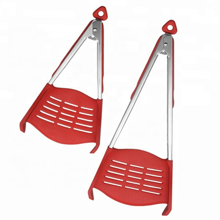 "9 ""und 12"" Silikon 2 in 1 Clever Food Tongs"