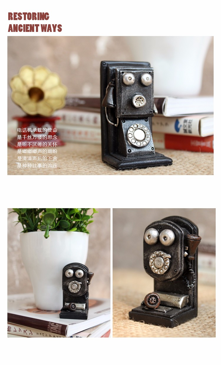 Roogo New Products Vintage Resin Art Home Pieces Decor For