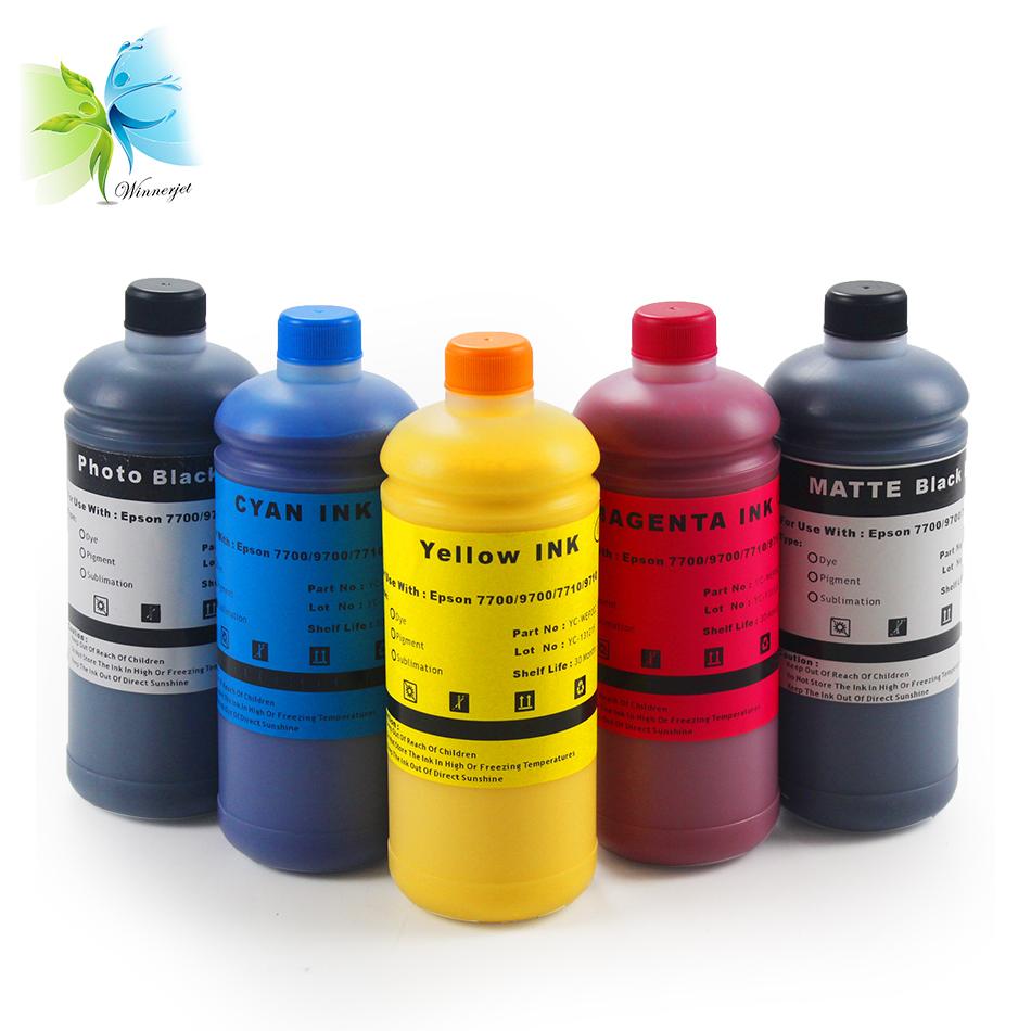 Genuine inchiostro per Epson stylus pro 7700 9700 7700 9700 plotter inchiostro pigmentato nero