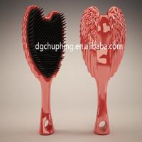 MY ANGEL GIRL custom hair brushes wholesale handmade flat and wide hair brush easy clean bling paddle brush