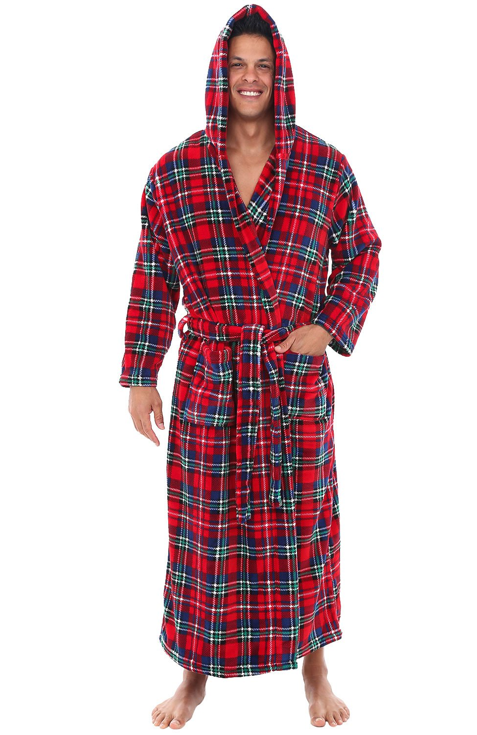 e95b1bb8e7 Buy Alexander Del Rossa Mens Fleece Robe