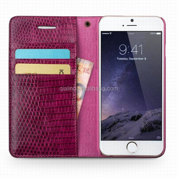 2016 Hot newly arrived top genuine Ostrich fashion sexy crocodile pattern phone leather case for iphone 6