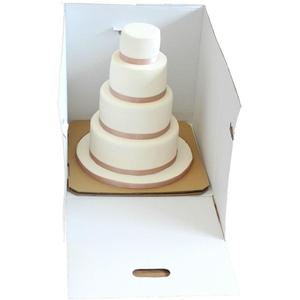 Creative white tall cake box for wedding party