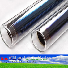 58mm 1800mm heat solar pipe vacuum evacuated tube solar collector tubes price