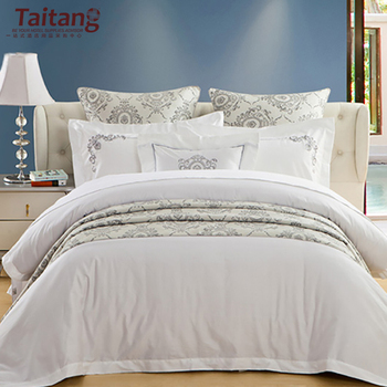 Hotel white flower embroidered 100 cotton bed sheet bedding sets hotel white flower embroidered 100 cotton bed sheet bedding sets mightylinksfo