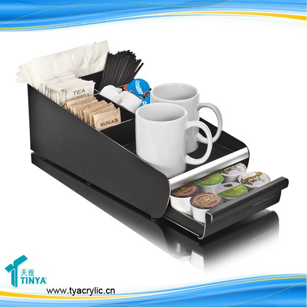 Wholesale Custom High Quality Lucite Acrylic Nespresso Acrylic Capsules Storage Drawers Organizer Box