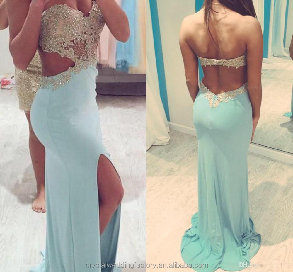 Alibaba 2016 Prom Jurken Met Slit Side Sweetheart Sexy Party Jurken ...