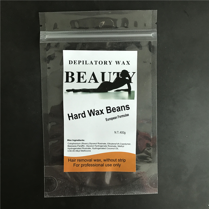 customized label 100 g green tea hard wax beans for hair removal beauty product