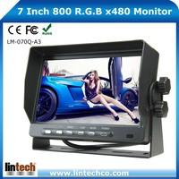 New car lcd monitor 7 inch 12v car monitor with 4 AV inputs