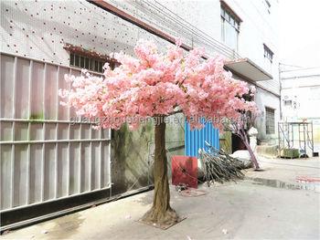 setengah bola mahkota Pohon bunga buatan merah muda pohon sakura Pohon bunga  sutra palsu untuk dekorasi dab2098801