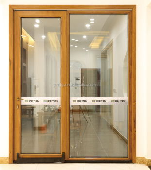 low price philippines design wood clad aluminum sliding glass door