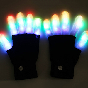LED Găng Tay Găng Tay Ánh Sáng Lên Rave Glow Găng Tay Găng Tay Nhấp Nháy Halloween Trang Phục Clubbing Bữa Tiệc Sinh Nhật Mới Lạ Ánh Sáng Lên Đồ Chơi