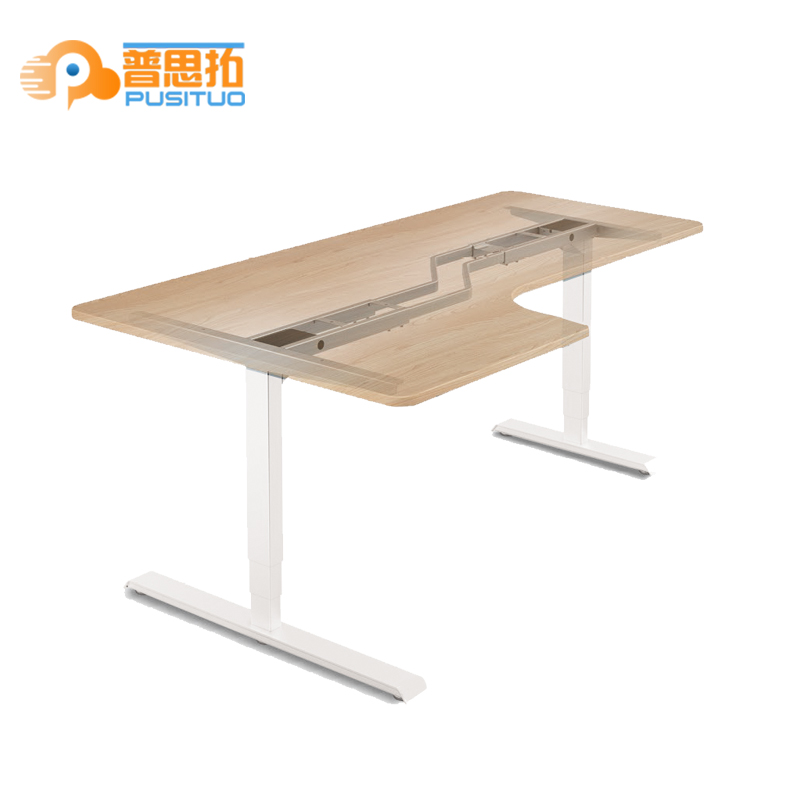 Metal Legs Lifting hardware electric Lifting Adjustable l shaped Standing Or Sitting Desk Table