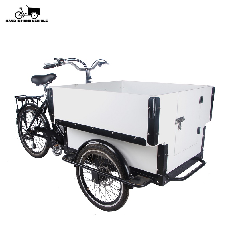 Heavy Dutch Front Cabin Electric Cargo Tricycle Carry Kids Family Cargo Bike