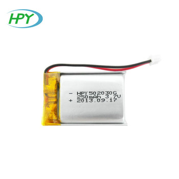 Small 502030 3.7v 250mah lithium polymer batteries for rc toys
