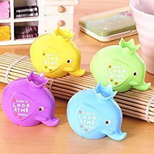 creative cute cartoon Mini double elephant student prize sharpener pencil cute pencil sharpener a set of 10pcs