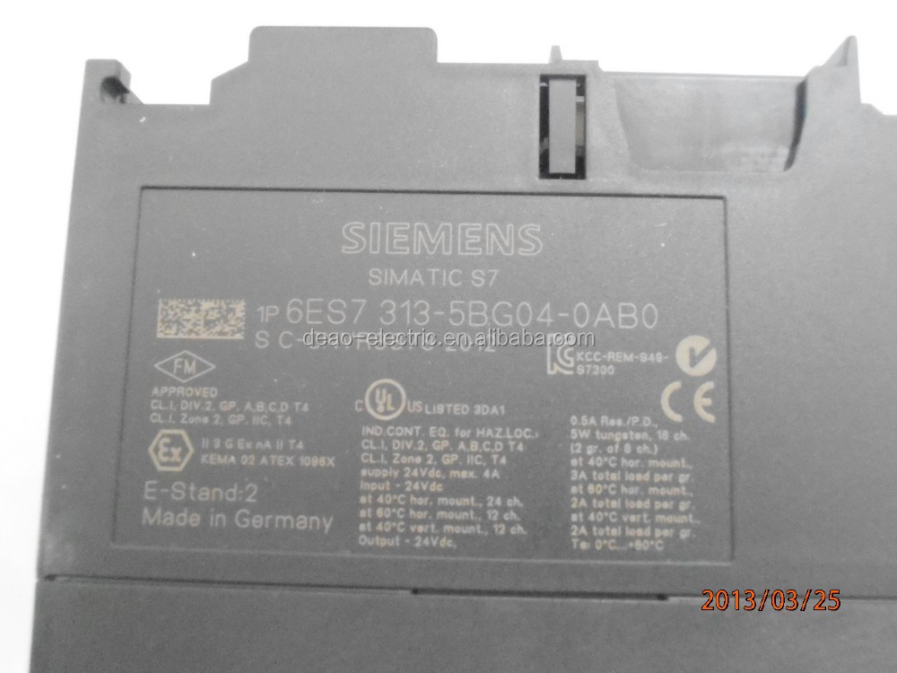 Siemens SIMATIC plc S7 300 CPU 313C siemens simatic plc s7 300 cpu 313c 6es7 313 5bg04 0ab0 buy cpu 313c wiring diagram at bayanpartner.co