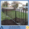 2015 Black Aluminium Fence For Sale/Modern Security Fence/Wrought Iron Fence With Long Service Time