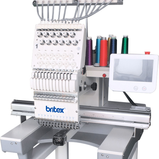 BR-1201 Single Head 12 colors single head embroidery machine