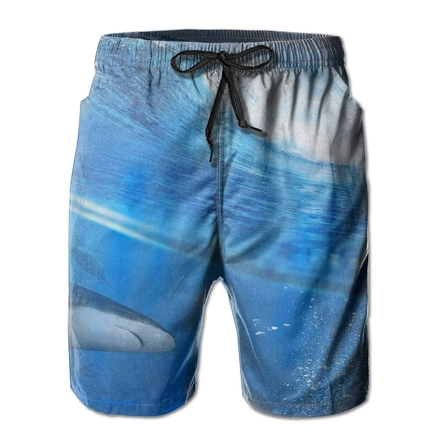 Shark Beach Pants Men Summer Pants Casual Quick Dry Bathing Suits for Swim Trunks Cargo Shorts