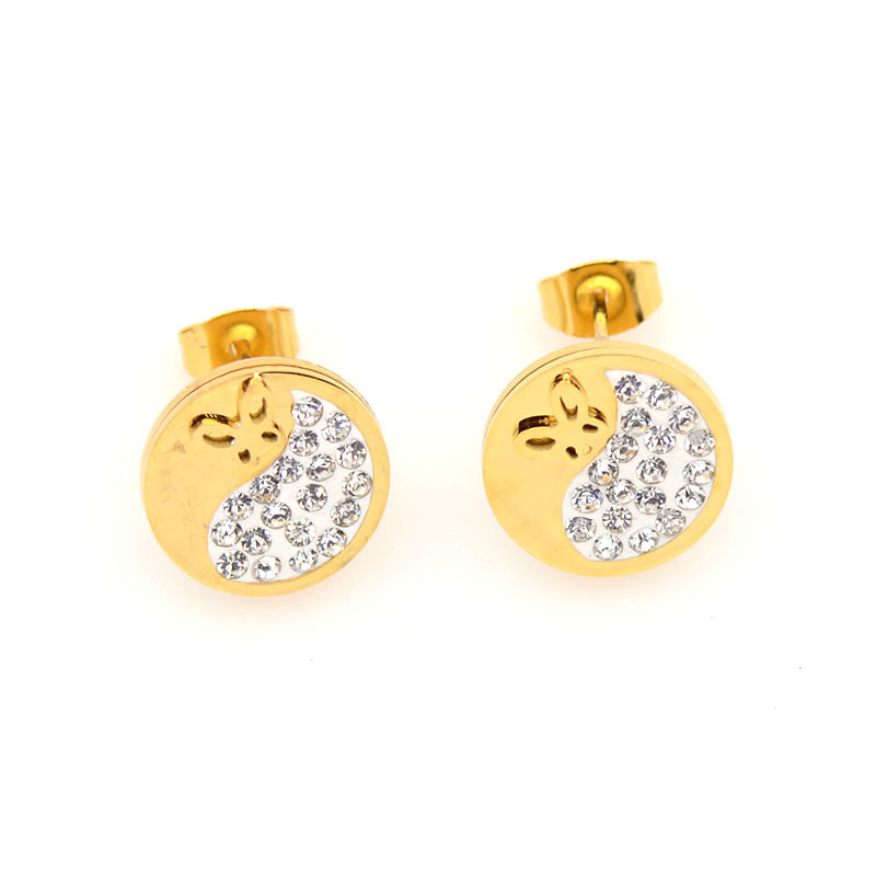 small women plated rhodium zoom round earrings greed stud john cz