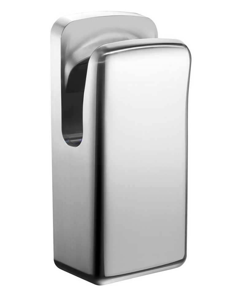 Power 304 stainless steel hand dryer  waterproof IP34 luxury jet hand dryer double side seamless automatic hand dryer
