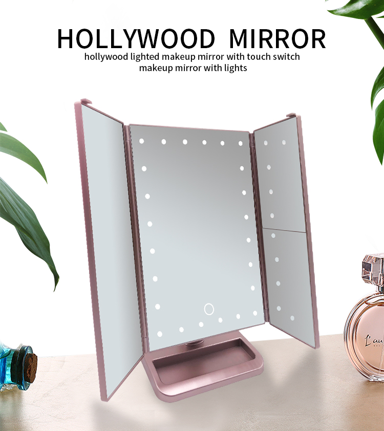 Guangzhou KAHO Barber Shop Led Makeup Mirror With Bluetooth Speaker