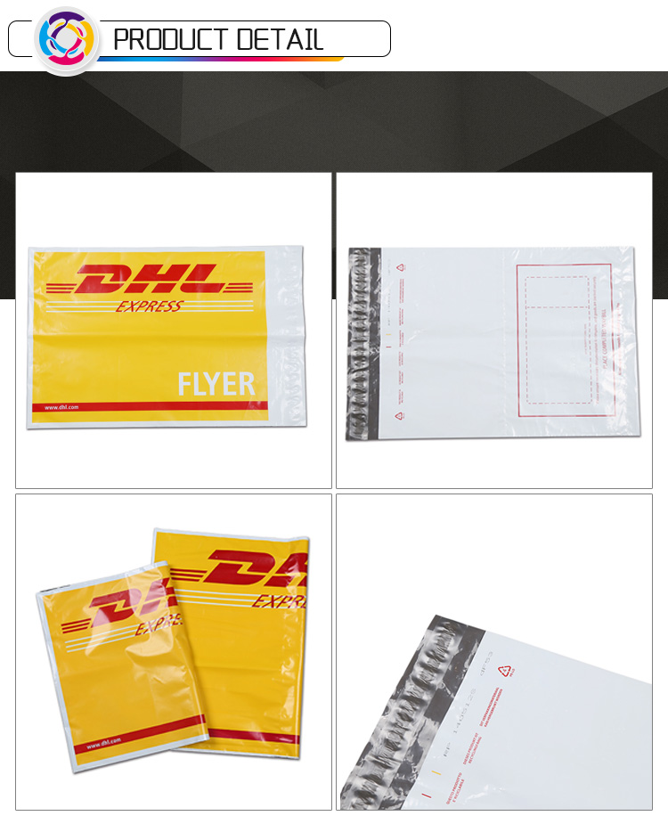 Self Adhesive Plastic Express Flyers Shipping Envelopes Dhl Tamper Proof Courier Bags