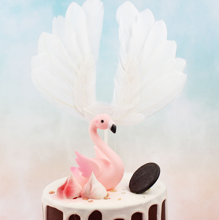 Feather Angel Wing Cake Topper Cupcake Picks voor Anniversary Birthday Party Wedding