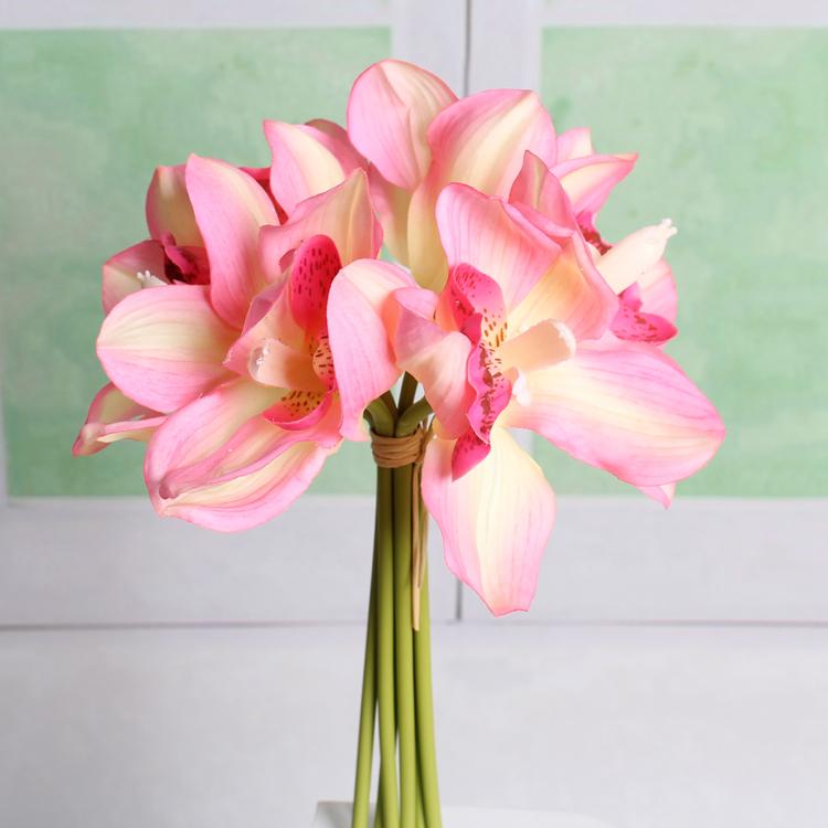 Short Stem Small Orchid Flower Bouquet