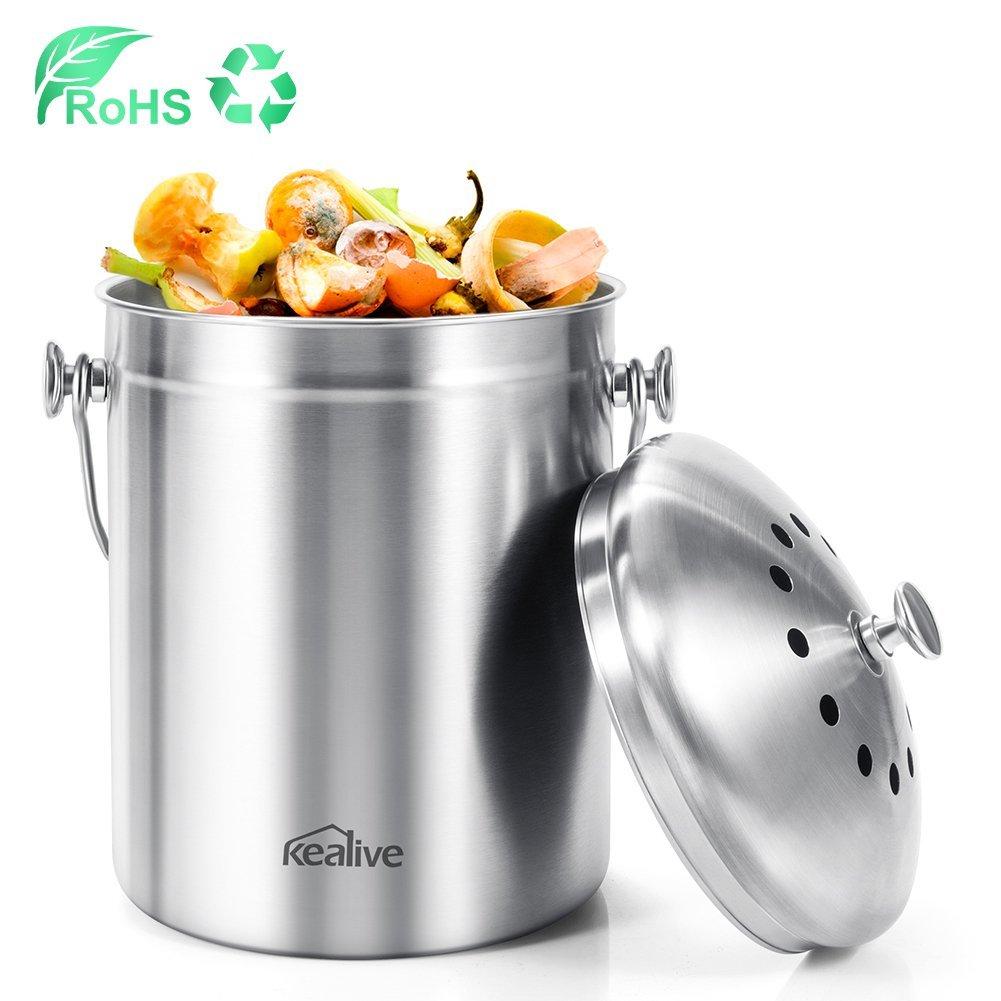 Buy Kealive Compost Bin, Kitchen Compost Bin, Premium ...