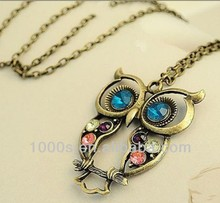 wholesale Big sweater owl necklace
